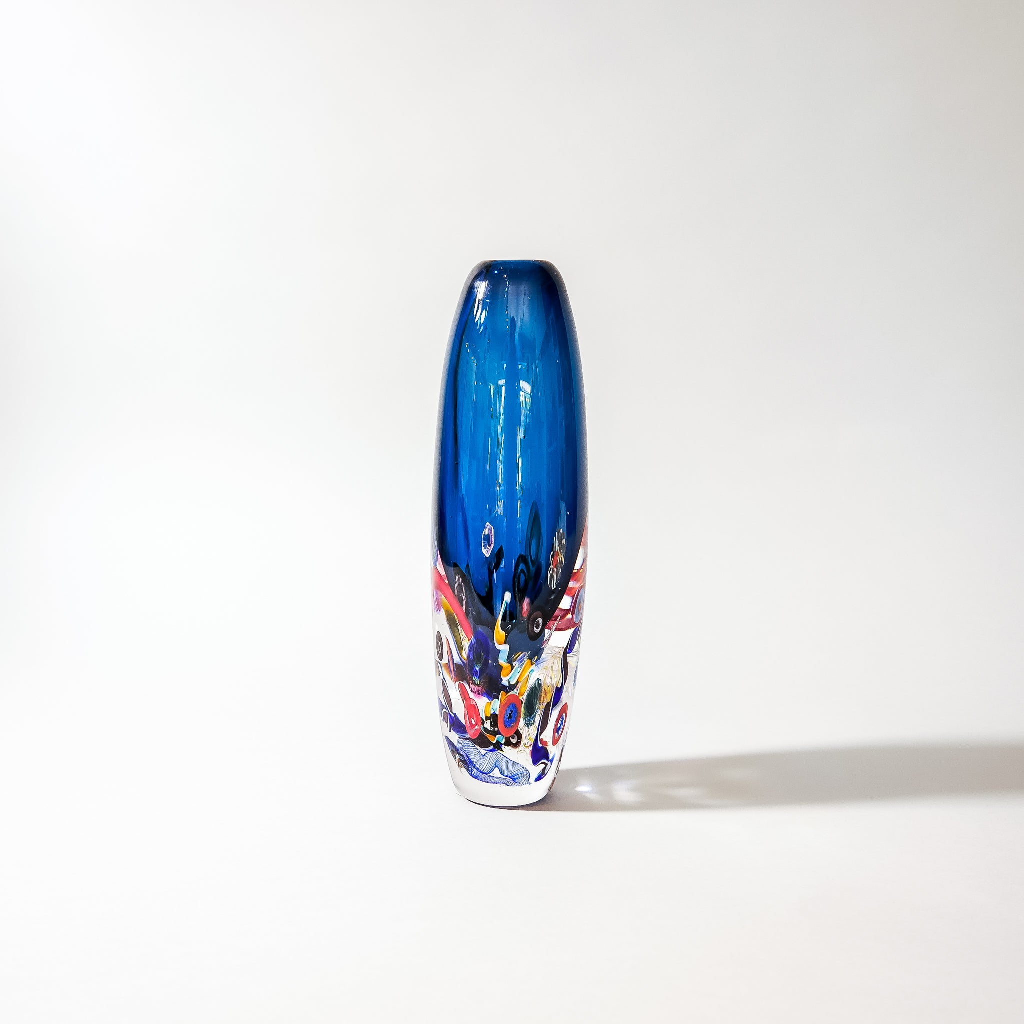 "Paperweight Vase: ""Inclusion Series"" . Signed by Leonard Whitfield, artist."