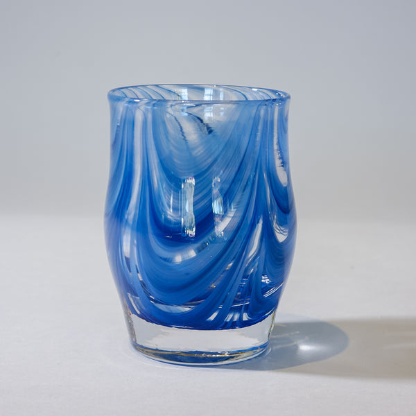 Small Blown Votive:  Cadet Blue.