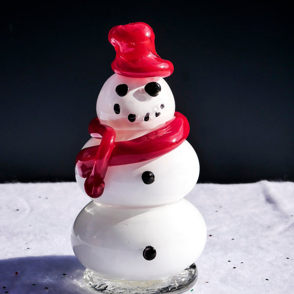"Blown Glass Snowman. ""Dandy"""