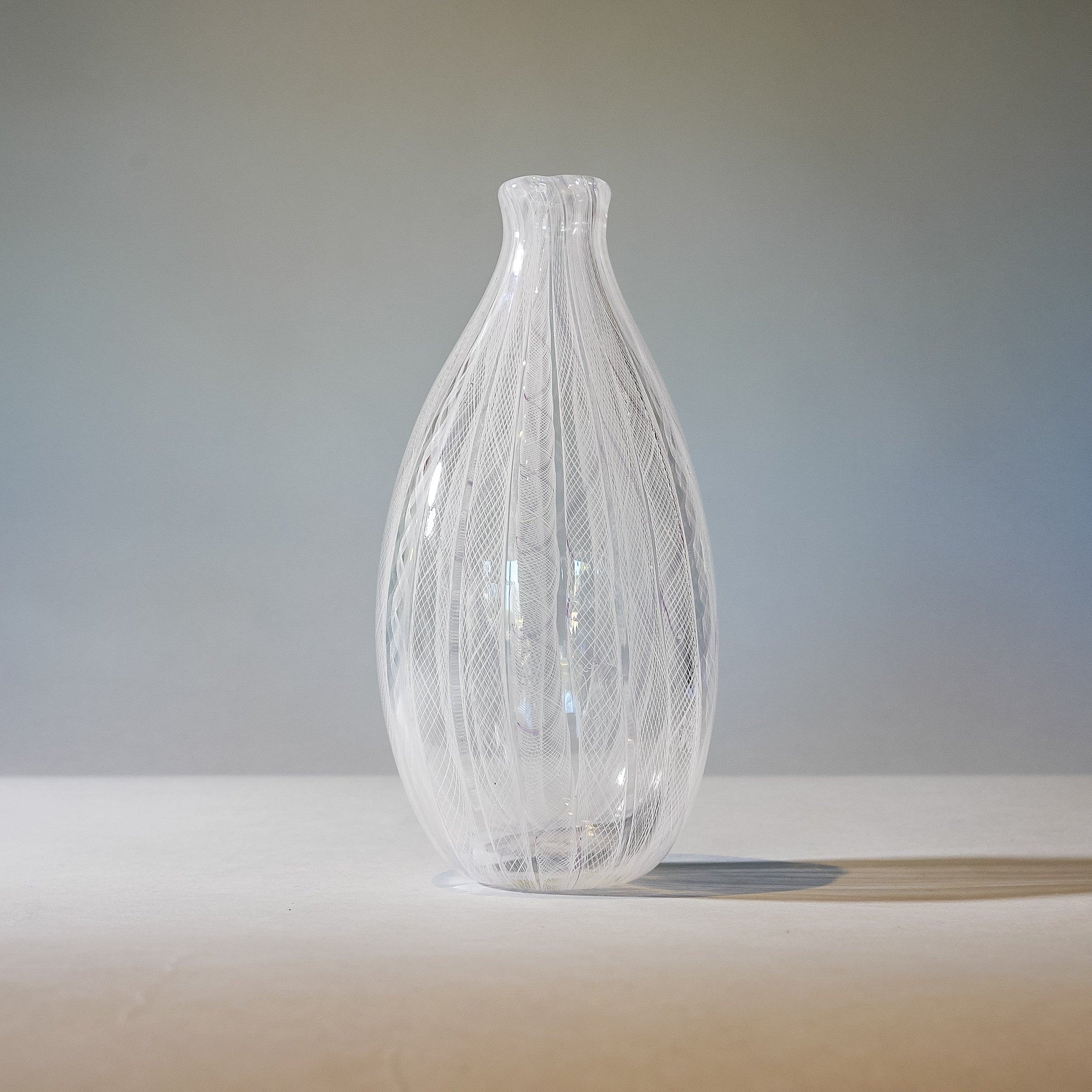 "Blown Glass Vase: ""Gossamer"""