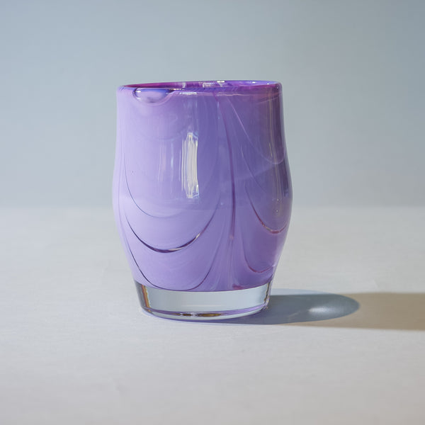 Small Blown Votive: Lilac Purple