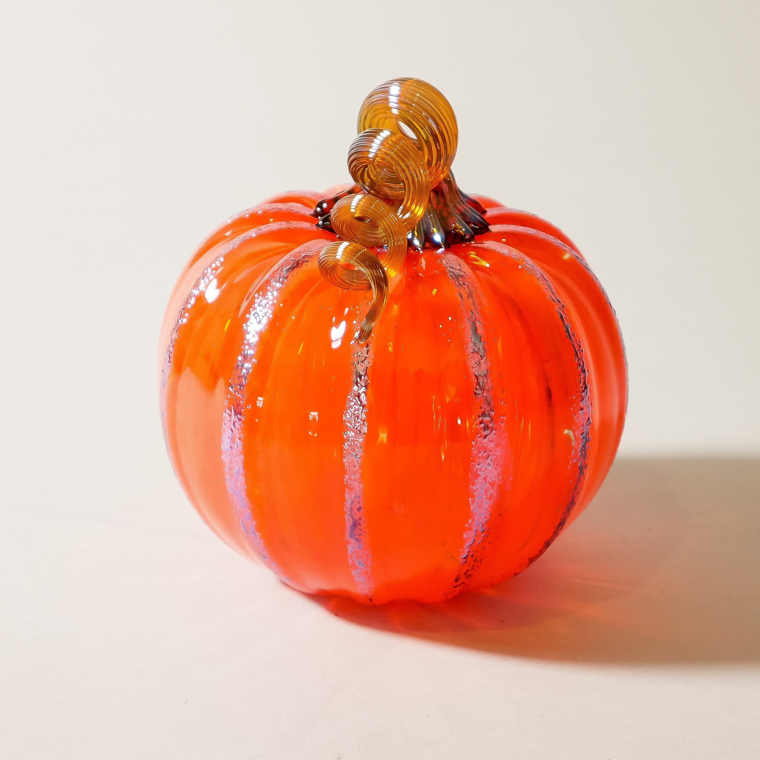 "Blown Glass Pumpkin:  ""Harvest """