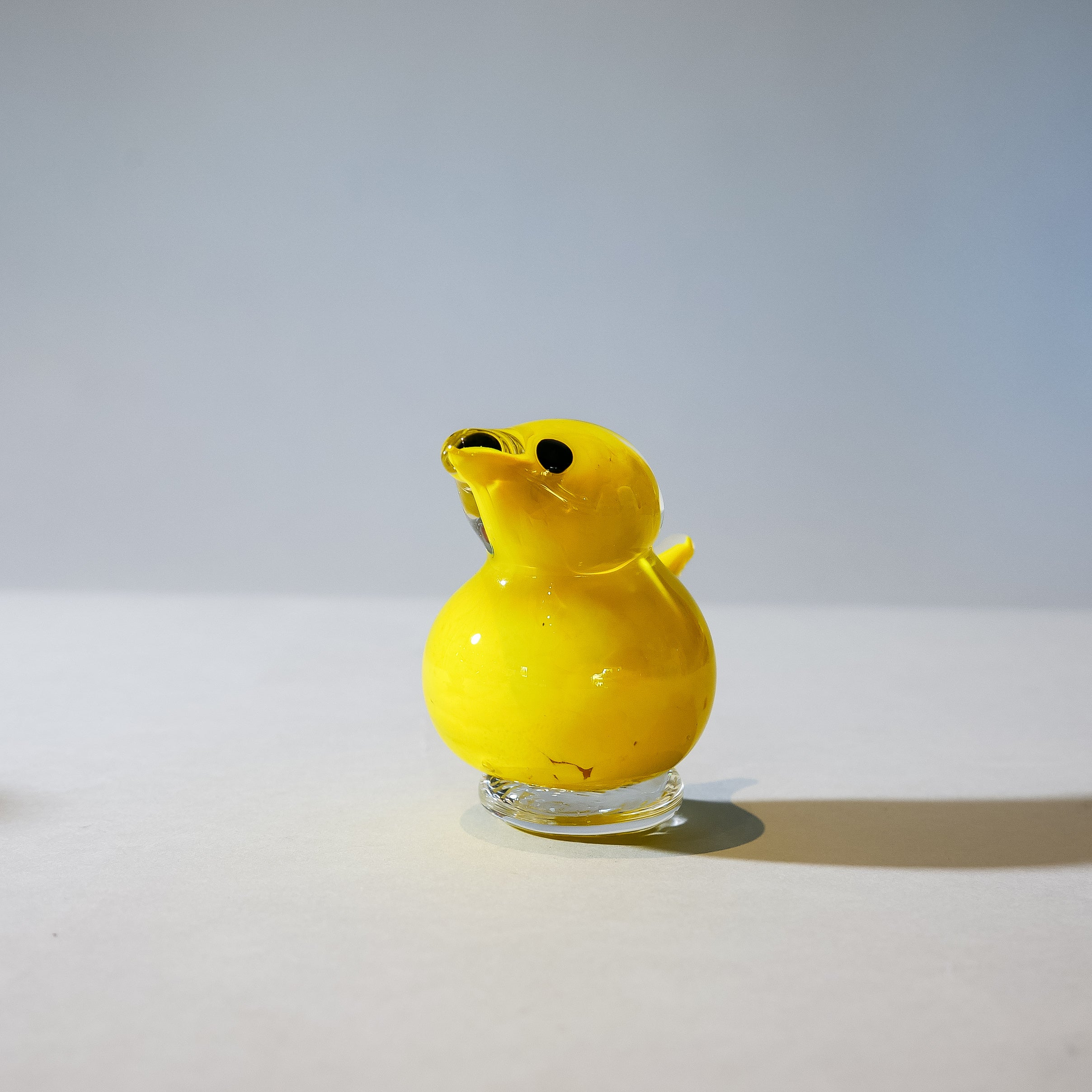 Small Handmade Glass Peeps: Yellow
