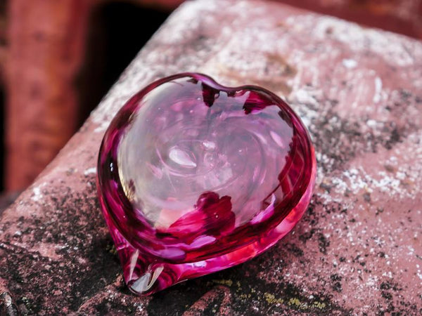 Medium Size Blown Glass Heart
