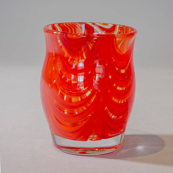 Small Blown Votives:  Red