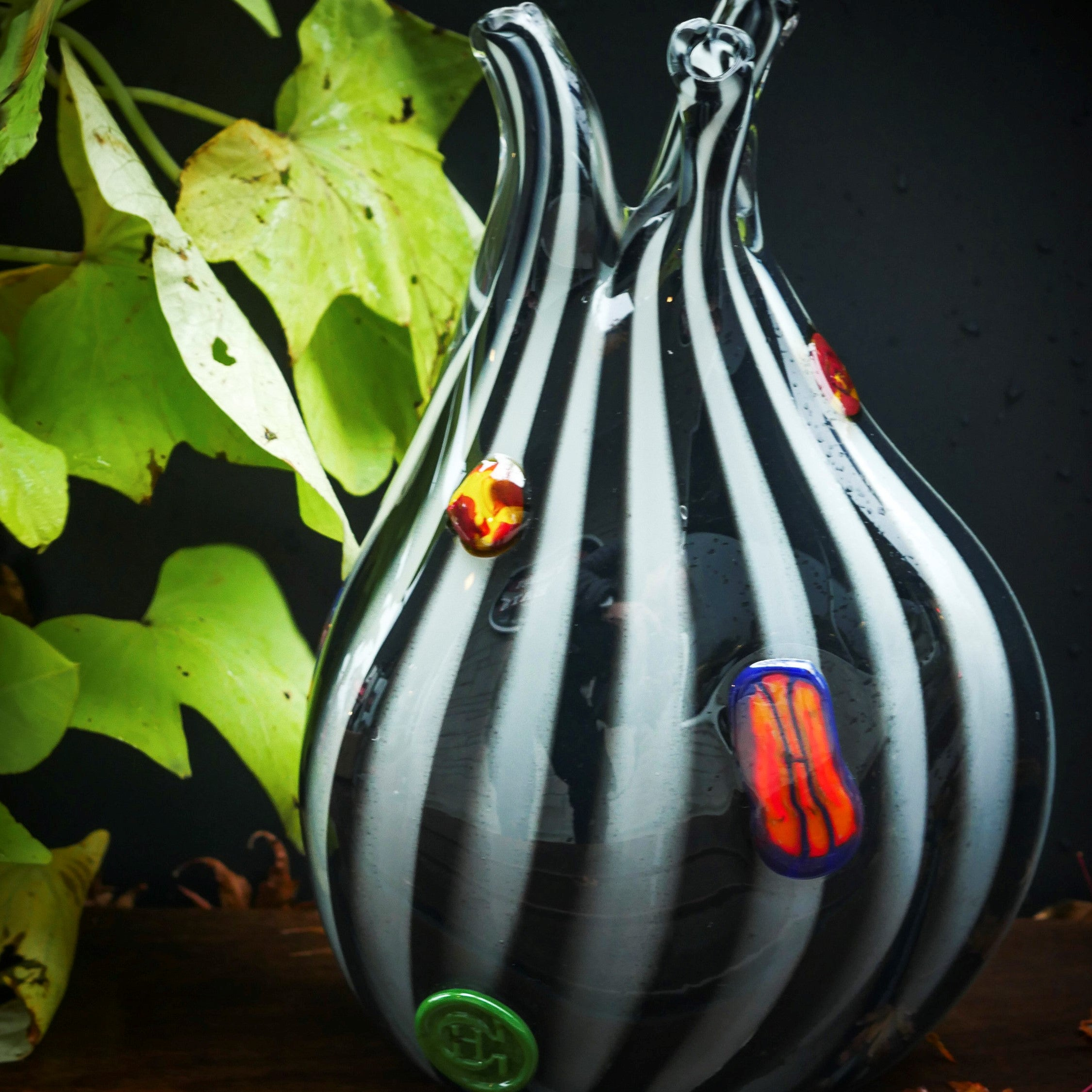 "Blown Glass Vase. Modern Design - ""Tetra""by Heath Conner"