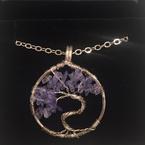 tanzanite tree of life necklace