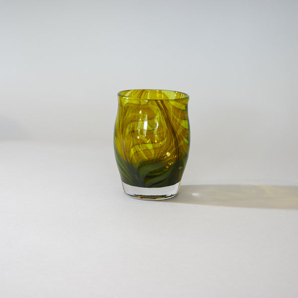 Small Blown Votive: MC Amber