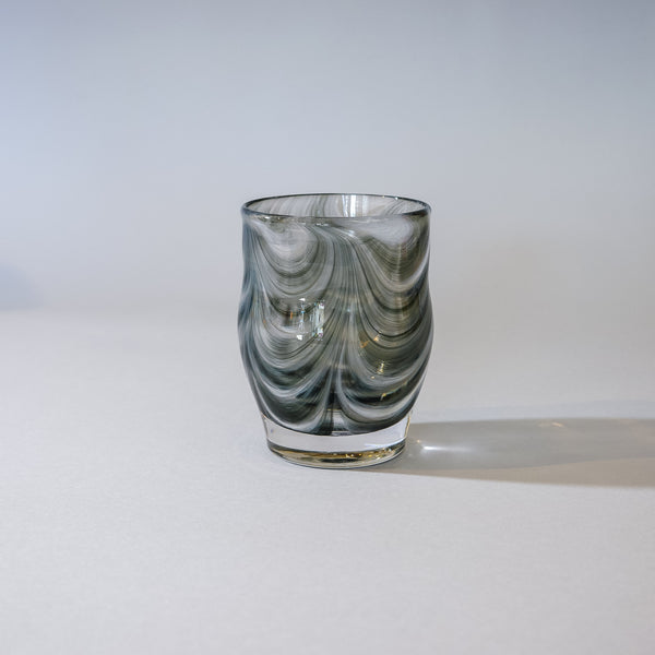 Small Blown Votive:  Modern Gray
