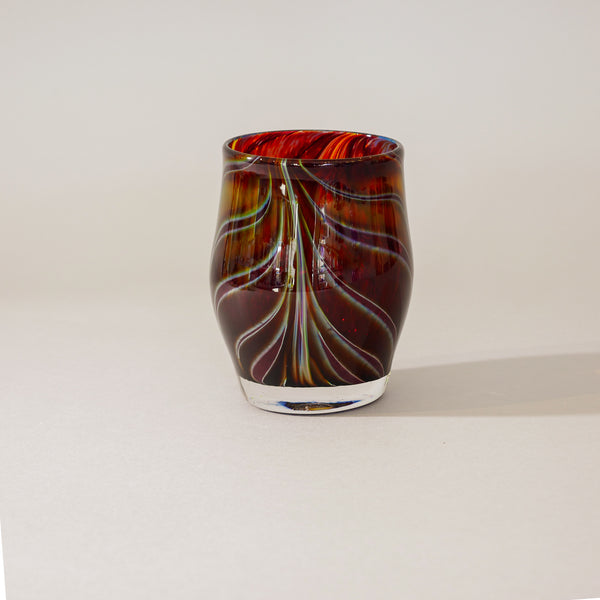 Small Blown Votive: Tortoise Shell Brown