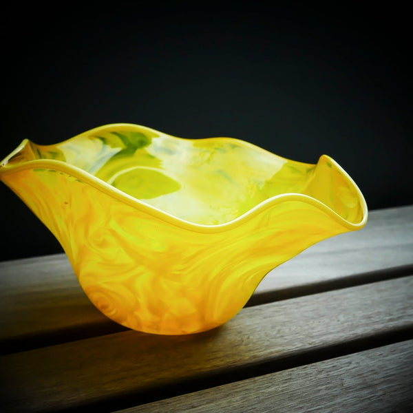 Blown Glass Bowl: Vivid Yellow