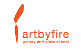 Art by Fire Glass Gallery and School's logo