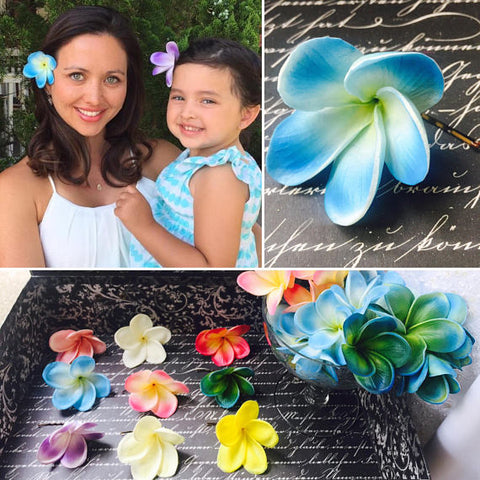 Plumeria Beach Hair flowers, Plumeria Hair Pin, Flower Hair Clip, Flower Girl Hair Bow, Beach Wedding, Plumeria Wedding, Bridal hair flowers