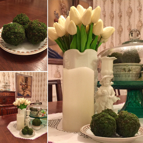 "Three 2 "" Moss Balls - Silk Flowers By Jean"