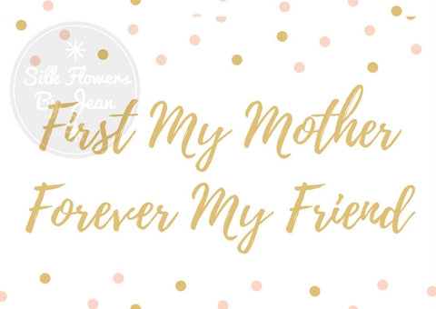 Mothers Day Card  Mother Forever Friend Instant Downloadable Printable Card