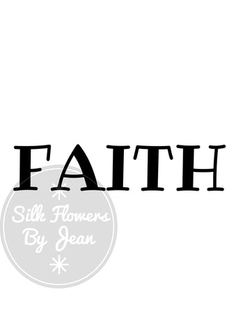 Faith Print, Faith Card, Home Decor, Card for Him, Card for Her, Picture For Wall, Black White Prints