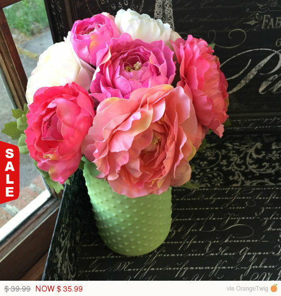 Mother's Day Flowers, Mother's Day Gift, Silk Flower Wedding Centerpiece - Silk Flowers By Jean