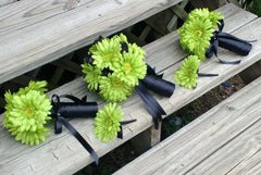Lime Green Daisy Bouquet, Bridal Bouquet, Wedding Bouquet, Lime Bouquet, Green Bouquet, Green Bridal, Lime Green Bridesmaid Lime Wedding