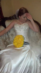 Yellow Rose Bouquet, 17 Piece Wedding Package, Yellow Bouquet, Yellow Gray Bouquet - Silk Flowers By Jean