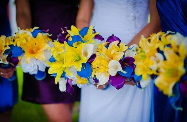 17 piece real touch royal blue yellow bridal bouquet wedding flower 17 piece real touch royal blue yellow bridal bouquet wedding flower set royal blue bouquet mightylinksfo