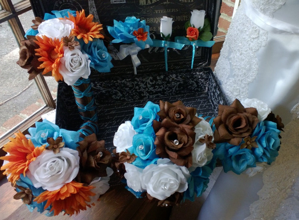 Beautiful Brown And Turquoise Wedding Images - Styles & Ideas 2018 ...