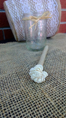 Rustic Wedding Guest Book Pen with Holder, Sola Flower Twine Pen, Shabby Chic Wedding Pen, Cottage Chic Decor Flower Pen, Twine Wedding Pen