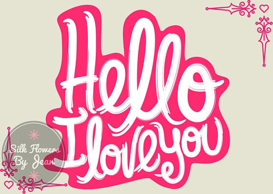 Hello I Love You Instant Download Card, valentine's day card, valentines card, valentines card him, valentines card her Printable