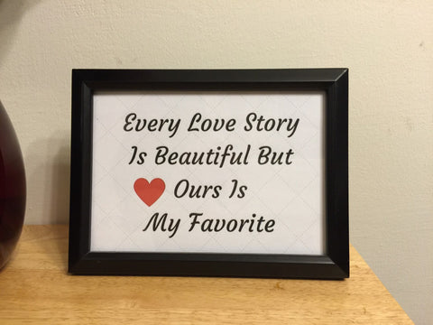 Wedding Printable Our Love Story is My Favorite Printable Card, Anniversary Card
