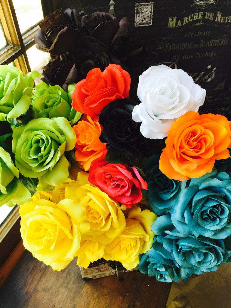 Single Silk Rose Sample 25 Colors Available Rose Wedding Bouquet