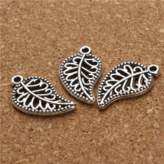 30pieces/lot antiquegold/Antiquesilver Wholesale Vintage Handmade Leaf Charms Pendants Gifts for Women F2849 - Silk Flowers By Jean