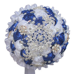 Best Selling Ivory Cream Brooch Bouquet Wedding Bouquet de mariage Polyester Wedding Bouquets Pearl Flowers buque de noiva PL001 - Silk Flowers By Jean