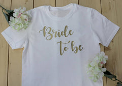 Bride to be bride t-shirt, gift for her, Bride Shirts, Bachelorette Party, Wedding Gifts - Silk Flowers By Jean