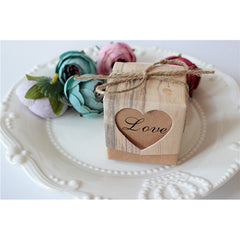 Party Favor Candy Box Love Rustic Kraft Gift Box - Silk Flowers By Jean