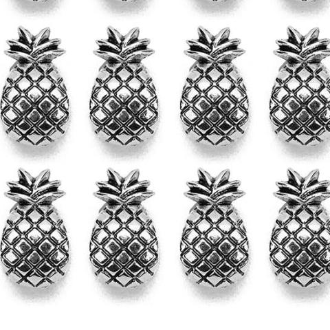 30pcs Antique Silver Pineapple Alloy Beads for DIY Jewelry