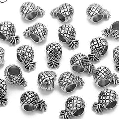 30pcs Antique Silver Pineapple Alloy Beads for DIY Jewelry - Silk Flowers By Jean