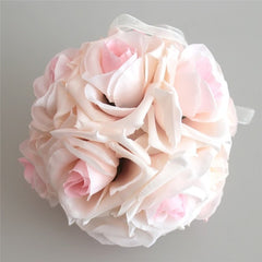 15x21cm Handmade Artificial Rose Flowers Kissing Hanging Ball DIY Bouquet Home Wedding Party Decor HG99 - Silk Flowers By Jean