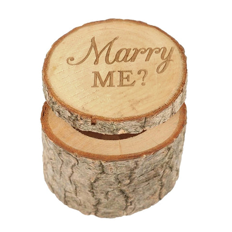 Marry ME Rustic Wedding Box Engagement Ring Box, Wedding Wooden Ring Bearer Box