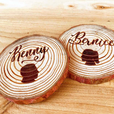 Wedding Gift Personalized Couples Silhouette Rustic Wooden Coaster, Wood Gift, Silhouette Gift