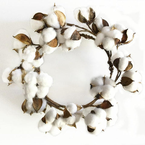 Artificial Cotton Dried Flower Wreath Christmas Wreath Door Cotton Wreath, Decor Gifts