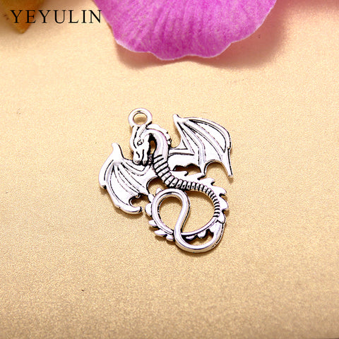 Vintage 35*27mm  Zinc Alloy Animals Dragon Fly Pendant Charm For Jewelry Pendant Making Wholesale 20pcs/lot
