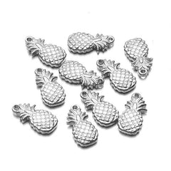 5Pcs/lot Stainless Steel Small Pineapple Charms Pendant For Jewelry Making