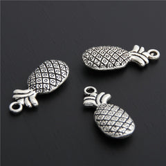 5pcs Antique Silver Fruit Charms Pineapple Charm Ananas Charm For Jewelry Making - Silk Flowers By Jean