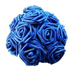 10 Heads 11 Colors Artificial Foam Rose Flowers Wedding Decorations, Wedding Decor Gifts - Silk Flowers By Jean