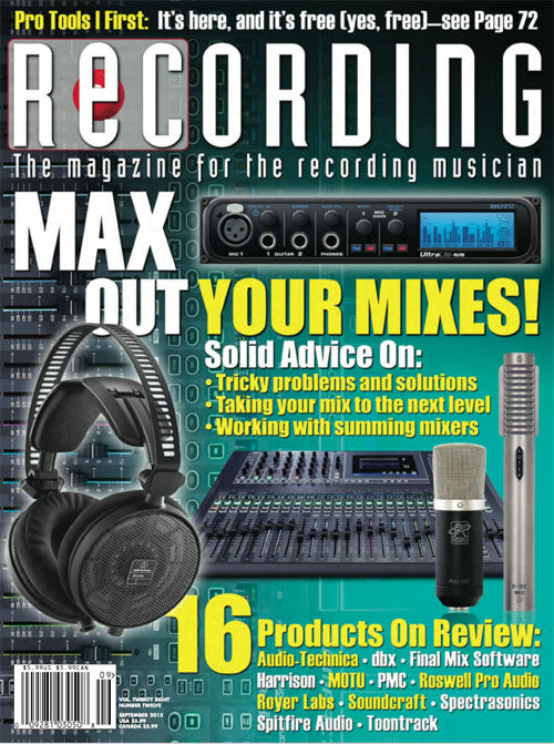 Recording Magazine, September 2015