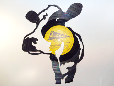 Cow - Vinyl Record Art - Cowan Creative
