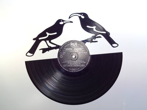 Huia Birds - Vinyl Record Art - Cowan Creative