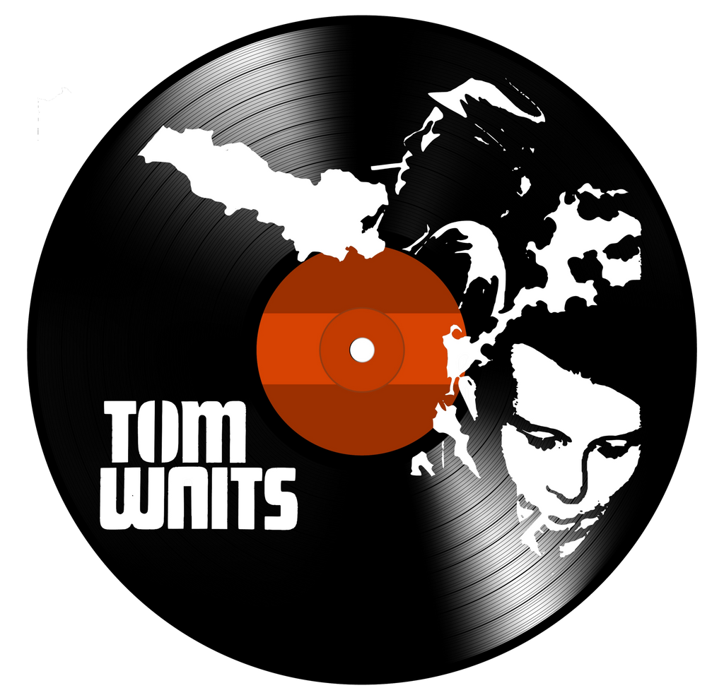 Tom Waits - Vinyl Record Art - Cowan Creative