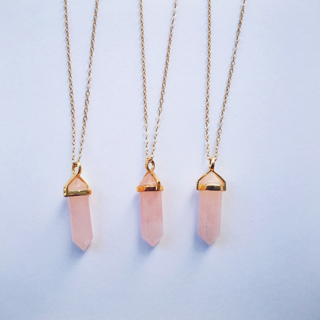 Rose Quartz Reiki Chakra Necklace