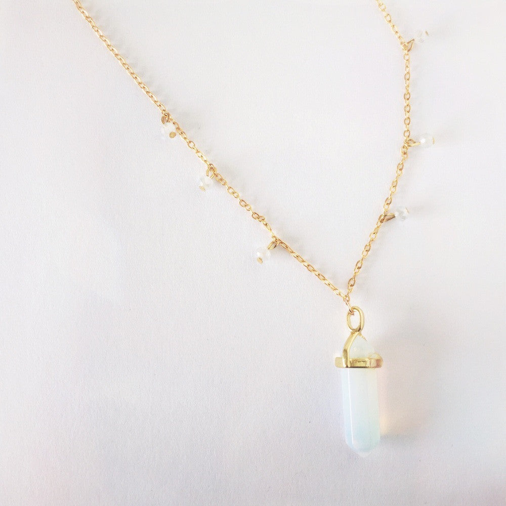 necklace pendant shipping crystal worldwide free opalite jewelry pin