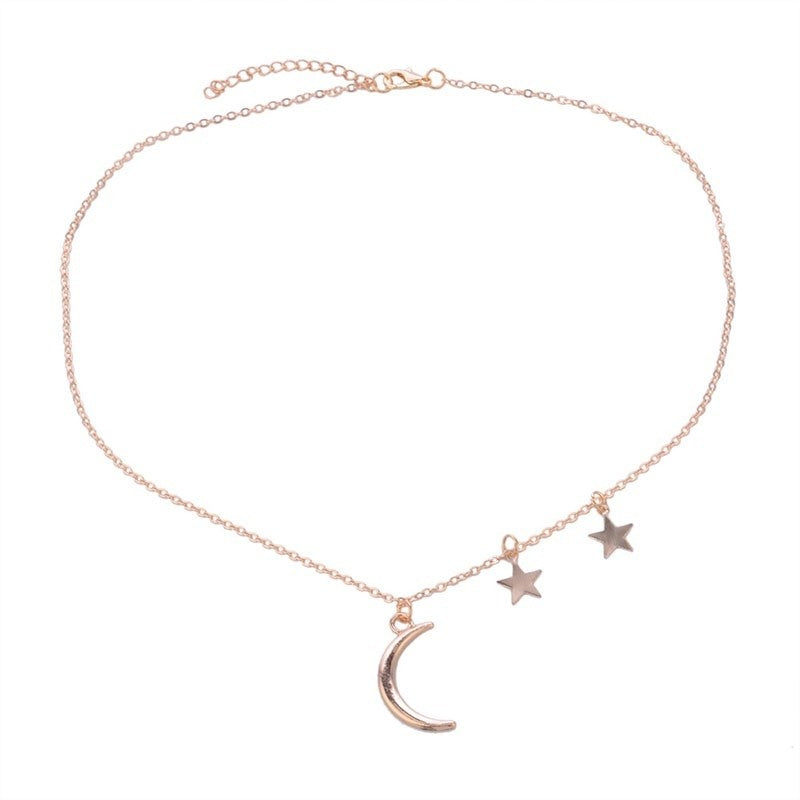 Star Crescent Moon Pendant Necklace